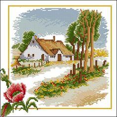 "Free cross-stitch pattern "" Seasons-Summer"" | Cross-Stitch Club"