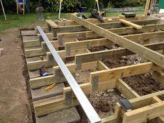 Jatoba terrasse - Både & Byg Terrace Garden, Stairs, Construction, Wood, Crafts, Gardening, Google, Gardens, Wedges
