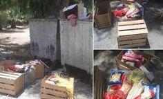 Μετανάστες στην Καβάλα πετάνε στα σκουπίδια τρόφιμα που τους δίνει το ελληνικό κράτος