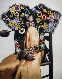 Digitally Altered Portraits Superimposed with Flowers, Antique Patterns, and Wildlife Illustrations - Digitale Illustration African American Art, African Art, Art Noir, Art Occidental, Digital Texture, Colossal Art, Black Artists, Art For Art Sake, Digital Collage