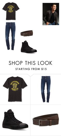 """Hogwarts and Happiness- Shawn"" by jennifer-l-brotherhood on Polyvore featuring Dsquared2, Converse, HUGO, men's fashion and menswear"