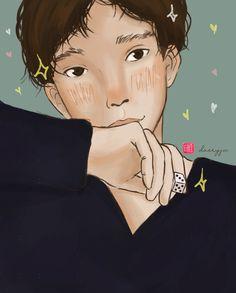 Dear Me, My Drawings, Exo, Fanart, Anime, Instagram, Fan Art, Cartoon Movies, Anime Music