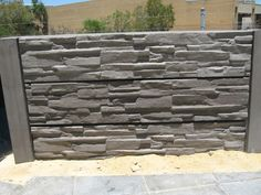 Merveilleux Stamped Concrete Retaining Wall