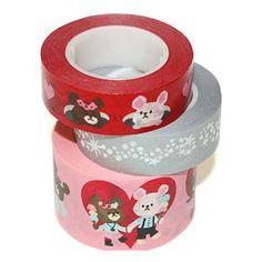 3 pattern school bear washi masking tape sample  by ZakkaLuLuZone