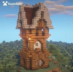 Minecraft Cottage, Easy Minecraft Houses, Minecraft Castle, Minecraft Houses Blueprints, Minecraft Plans, Minecraft House Designs, Minecraft Decorations, Amazing Minecraft, Minecraft Art