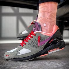 - Whos a fan of AM180s? By @fthefu Click the link in our bio to shop these. Make sure to follow @getswooshed. Sneakers N Stuff, Nike Sneakers, Air Max Sneakers, Sneakers Fashion, Fashion Shoes, Air Maxes, Run Runner, Air Max 180, Nike Shoes Outlet
