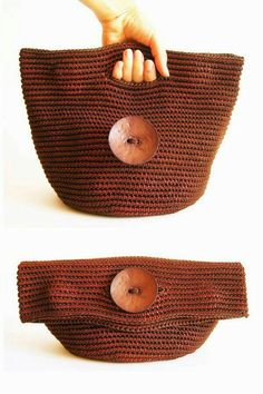Crochet pattern for Tapestry Bag-Clutch. Crochet one bag with two purposes. In one piece, learn tapestry crochet. - Her Crochet Crochet Diy, Love Crochet, Crochet Crafts, Crochet Projects, Diy Crafts, Crochet Clutch, Crochet Handbags, Crochet Purses, Crochet Bags