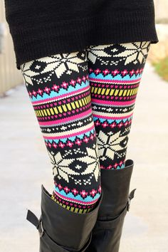 All sorts of leggings!  Wish the reindeer patterns weren't upside down though...