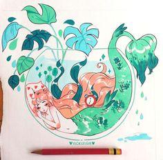 vickisigh - Posts tagged my art Mermaid Drawings, Mermaid Art, Kawaii Drawings, Cute Drawings, Guache, Cartoon Art Styles, Kawaii Art, Pretty Art, Aesthetic Art