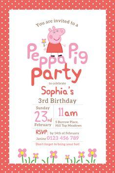Pig Birthday Invitations
