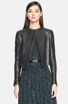 Jason Wu Leather Crop Jacket