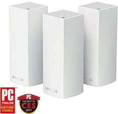 Linksys - Velop Tri-Band Whole Home Wi-Fi System (3-pack) - White