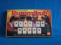 Rummikub Word Vintage Tile Game By Goliath Games 1995 Fun Family Game