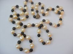 Vintage 1950s 60s Glass Faux Pearl Beads and by InVintageFashion, $22.00