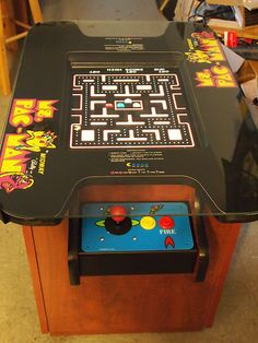 New MS Pac Man Galaga Pacman Cocktail Table Video Arcade Game Free Shipping | eBay