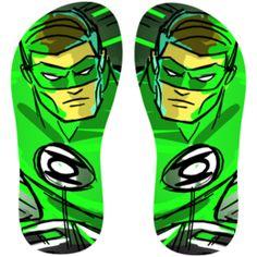 Estampa para chinelo Lanterna Verde 001119