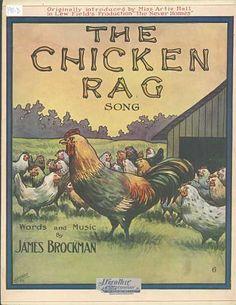 Vintage. Sheet Music. Chicken Rag