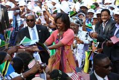 Michelle Obama visits Africa with Barack