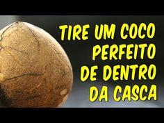 Como tirar um coco inteiro e perfeito de dentro da casca