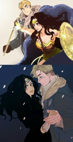 Diana and Steve #wondertrev #Wonderwoman