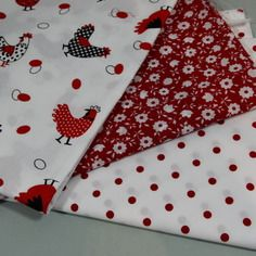 Lot de 3 coupons assortis tons  rouges ,  140x45cm minimum