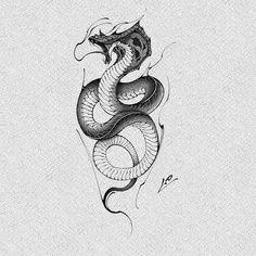 Jordan Painting, Traditional Snake Tattoo, Snake Dragon, Gangsta Tattoos, Dark Art Tattoo, Maori Tattoo Designs, Arte Cyberpunk, Black And White Illustration, Animal Tattoos