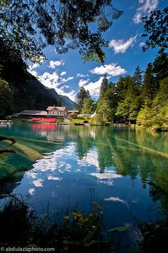The Blausee, Kandersteg, Switzerland. http://WhatIsTheBestMountainBike.com