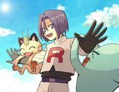 James Pokemon, Pokemon Jessie And James, Old Pokemon, Pokemon Pocket, Pokemon People, Pokemon Memes, Cute Pokemon, Pokemon Team Rocket, Pikachu