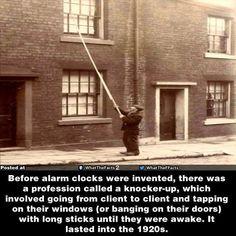 Before alarm clocks