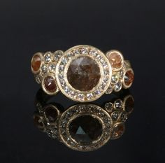Try this gorgeous look for fall with our hand forged opaque diamond ring! #giveunderwoods