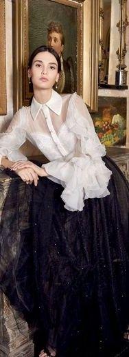 Glamour, Ermanno Scervino, Prom Dresses, Formal Dresses, Retro Look, Holiday Fashion, Marchesa, Classic White, Runway Fashion