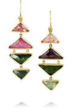 Brooke Gregson   18-karat gold tourmaline drop earrings   NET-A-PORTER.COM