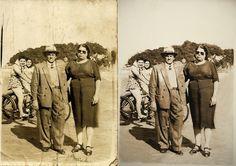 Restauração - antes e depois