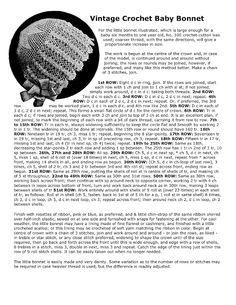 Vintage Crochet Baby Bonnet free crochet pattern