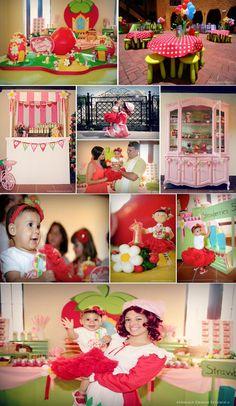 Strawberry shortcake themed birthday party - maybe