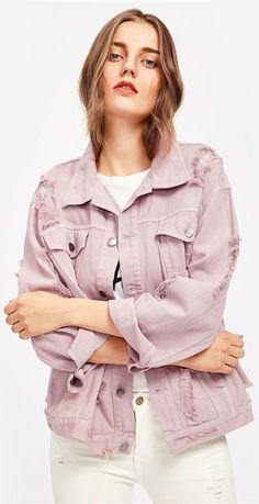 How to wear pink jeans casual denim jackets 29 Ideas Blue Mom Jeans, Pink Skinny Jeans, Pink Jeans, Pink Denim Jacket, Jean Jacket Outfits, Oversized Hoodie Dress, Pijamas Women, Ootd, Recycled Denim