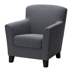 EKENÄS Chair IKEA The high back provides good support for your neck and head. Durable cover of chenille quality with a slight sheen and a soft feel.