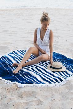 Round Beach Towel - oceans