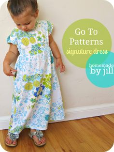 homemade by jill: Signature Dress by Go To Patterns