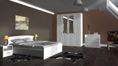 Dormitor stil clasic,compus din dulap, pat matrimonial, comoda si doua noptiere, fronturi din MDF. Bed, Furniture, Home Decor, Decoration Home, Stream Bed, Room Decor, Home Furnishings, Beds, Arredamento