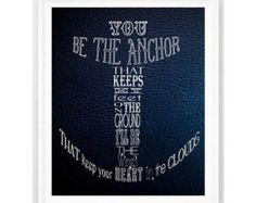 Nautische Drucken nautisch Zitat Ozean Kinderzimmer Dekor nautisch Navy Leder anpassbare nautisch Dekor personalisiert Drucken 8 x 10