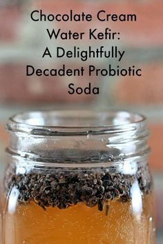 Chocolate Cream Water Kefir probiotic soda