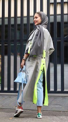 استریت استایل ایرانی – www. Abaya Fashion, Muslim Fashion, Modest Fashion, Fashion Outfits, Fashion Week, Fashion 2020, Look Fashion, Fashion Design, Iranian Women Fashion