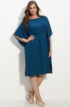 love the color and drape of this silk dress... wonder if it's 4 ply... it looks it... nice heavy drape and matte surface