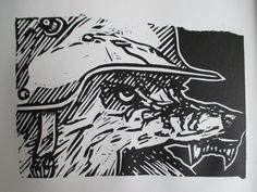 linoleum carving print