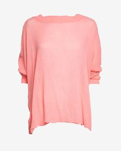 Skin Pullover Gauze Shirt: Coral | Shop IntermixOnline.com