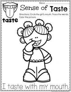 5 Senses In 2020 Senses Preschool Preschool Coloring Pages