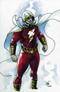 Captain Marvel/Shazam New 52 Style by Gabriel Hernandez DCC in Donald Munsell's DC Characters Comic Art Gallery Room Captain Marvel Shazam, Mary Marvel, Shazam Dc Comics, Hq Marvel, Dc Comics Art, Anime Comics, Shazam Comic, Comic Books Art, Comic Art