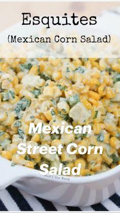 Corn Recipes, Vegetable Recipes, Mexican Food Recipes, Salad Recipes, Vegetarian Recipes, Cooking Recipes, Healthy Recipes, Appetizer Recipes, Dinner Recipes
