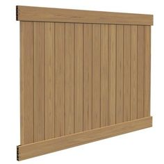 H x 8 ft. W Cypress Vinyl Privacy Fence Panel Kit Veranda Linden 6 ft. H x 8 ft Vinyl Picket Fence, Picket Fence Panels, White Vinyl Fence, Vinyl Fence Panels, Privacy Fence Panels, Vinyl Fencing, Fence Gates, Patio Privacy, Wooden Fence